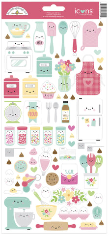 Doodlebug Design - Made With Love Icons Sticker