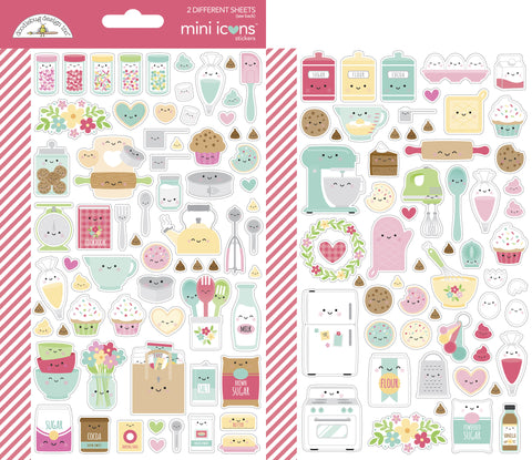 Doodlebug Design - Made With Love Mini Icons Sticker