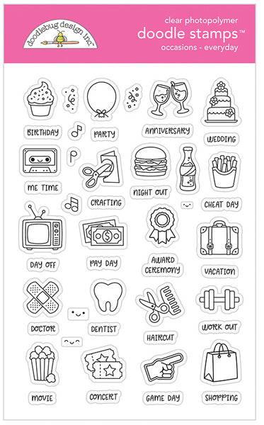 Doodlebug Design - Occasions Everyday Doodle Stamps