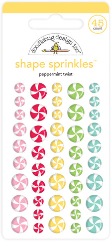 Doodlebug Design - Peppermint Twist Shape Sprinkles (45pcs)