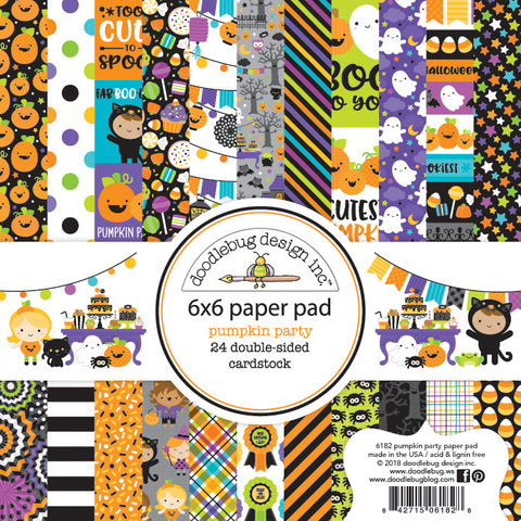 Doodlebug Design - Pumpkin Party 6x6 Inch Paper Pad