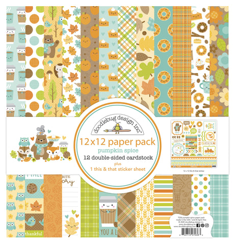 Doodlebug Design - Pumpkin Spice 12x12 Inch Collection Pack