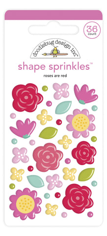 Doodlebug Design - Roses are Red Shape Sprinkles (36pcs)