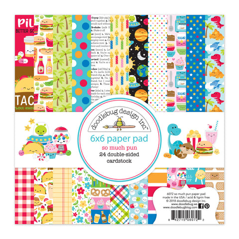 Doodlebug Design - So Much Pun 6x6 Inch Paper Pad