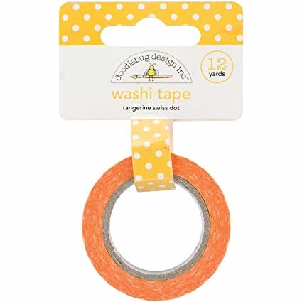 Doodlebug Design - Tangerine Swiss Dot Washi Tape