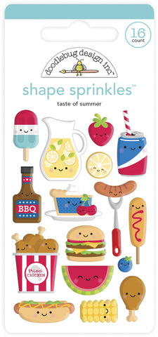 Doodlebug Design - Taste of Summer Shape Sprinkles (16pcs)