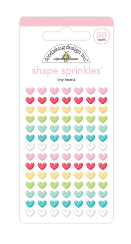 Doodlebug Design - Tiny Hearts Shape Sprinkles