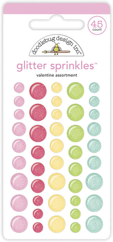Doodlebug Design - Valentine Assortment Glitter Sprinkles (45pcs)