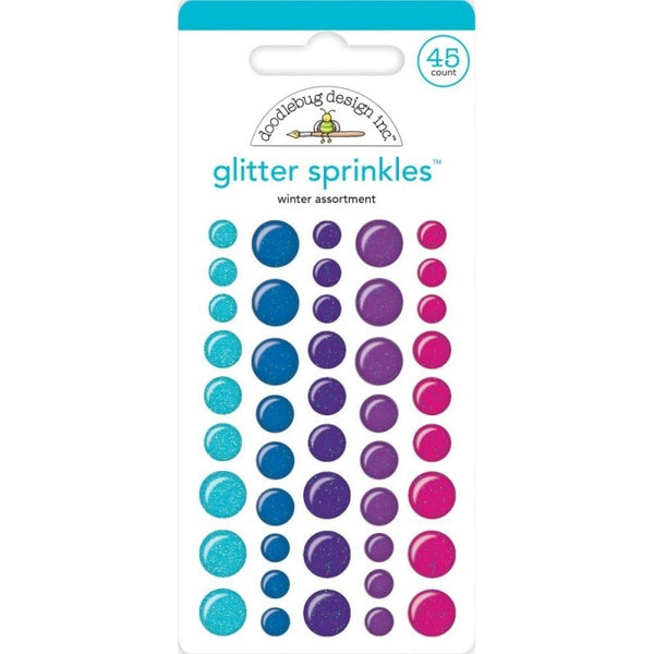 Doodlebug Design - Winter Assortment Glitter Sprinkles (45pcs)