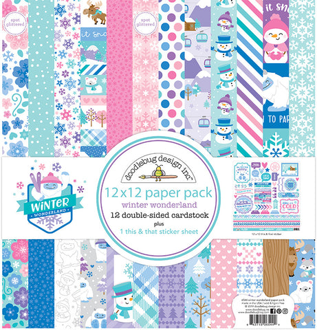 Doodlebug Design - Winter Wonderland 12x12 Inch Paper Pack