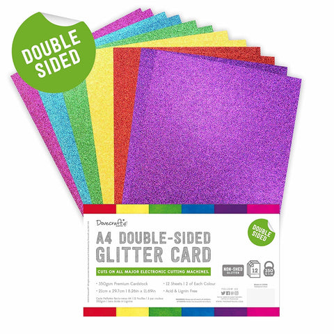 Dovecraft - Double Sided Glitter Bumper Pack A4 Rainbow Bright
