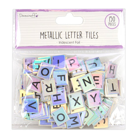 Dovecraft - Iridescent Chipboard Letter Tiles