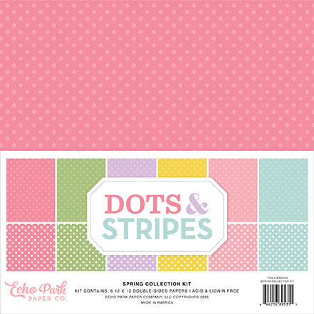 Echo Park - Dots & Stripes Spring 12x12 Inch Collection Kit