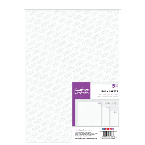 Crafter's Companion - Double Sided Foam Sheets - A4 Size (5PC)