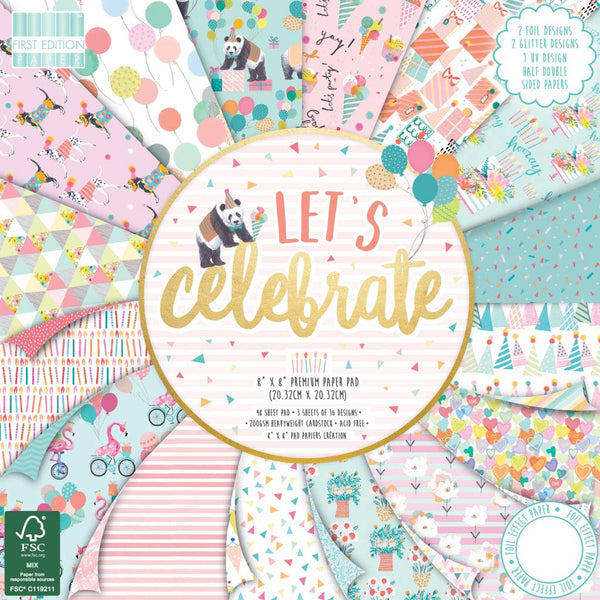 First Edition - Let's Celebrate 8x8 Inch Paper Pad