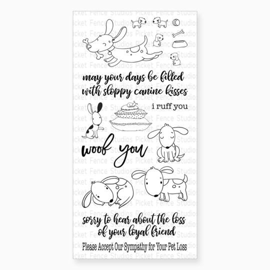 Picket Fence Studios - Friendly Mutts Clear Stamps