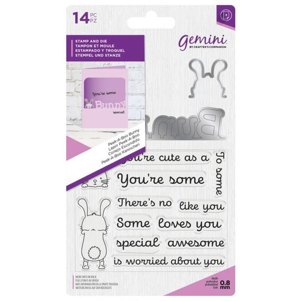 Crafter's Companion - Gemini Peek-A-Boo Bunny Stamp & Die