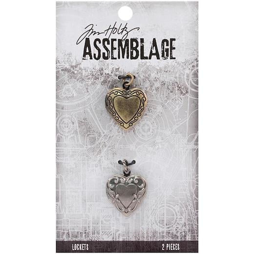 Tim Holtz - Idea-ology Tim Holtz Ornate Hearts Lockets (2pcs)