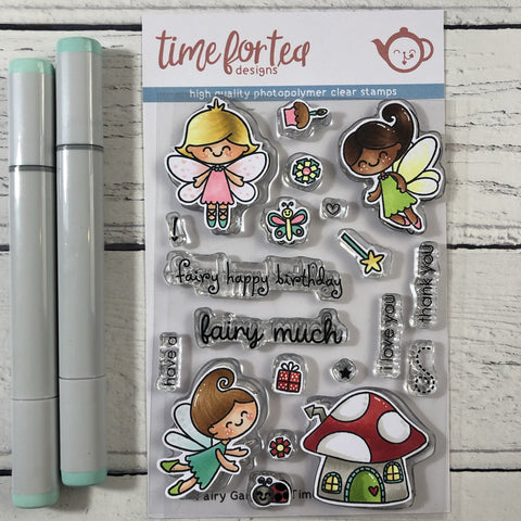Time for Tea Designs - Fairy Garden Clear Stamp Set