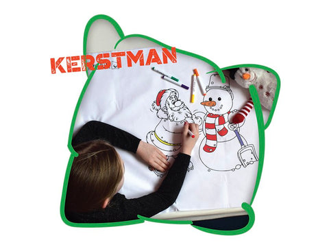 Happy Pillow - Kerstman incl. 5 textielstiften
