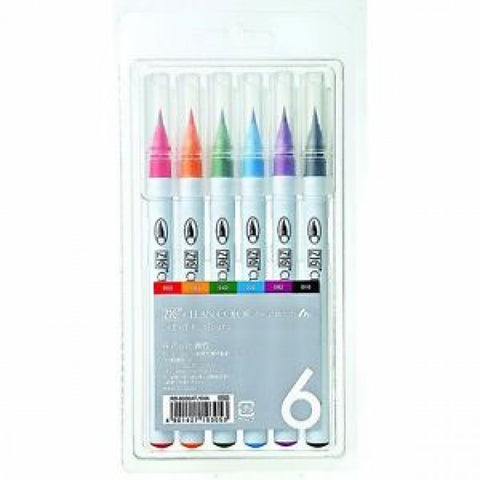 Kuretake - ZIG CLEAN COLOR Real Brush Set 6st