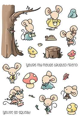 LDRS Creative - Mouse Trusted Friend Clear Stamps