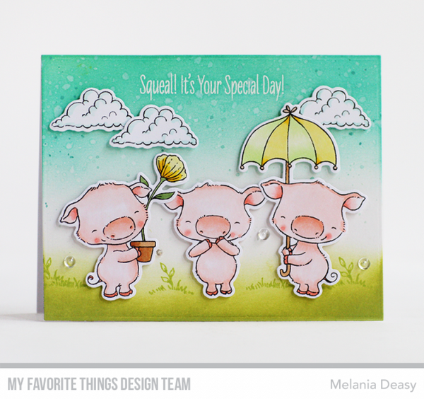 My Favorite Things - Clear Stamps SY Piggy Pebbles
