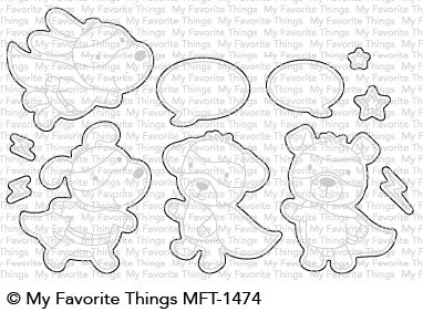 My Favorite Things - Clear Stamps Super Dog