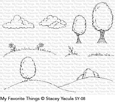 My Favorite Things - Clear Stamps SY Scene Builder