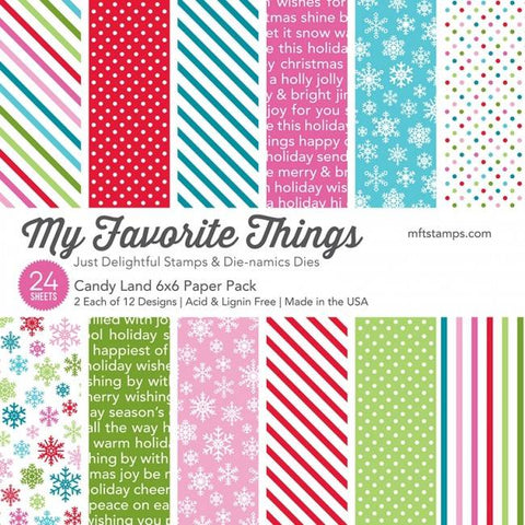 My Favorite Things - Candy Land 6x6 Inch Paper Pack