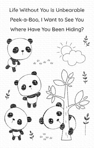 My Favorite Things - Panda Pals Clear Stamps