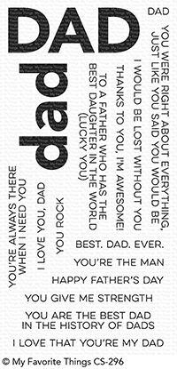 My Favorite Things - All About Dad Clear Stamps