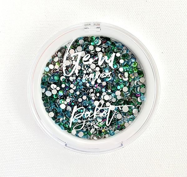 Picket Fence Studio's - Oceans of Green Gem Mix