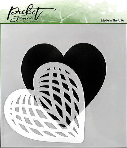 Picket Fence Studios - Spliced Heart Stencil