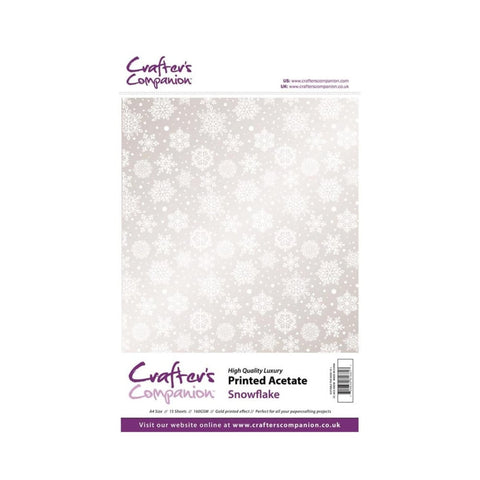 Crafter's Companion - Crafter's Companion Printed Acetate Snowflake A4