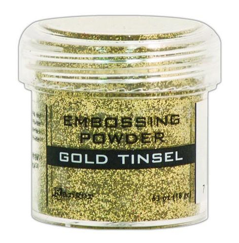 Embossing Powder gold tinsel