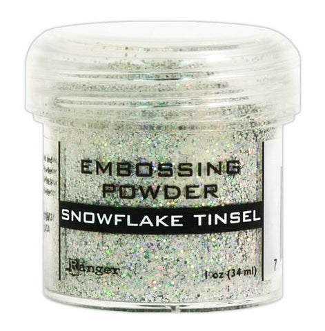 Embossing Powder snowflake tinsel