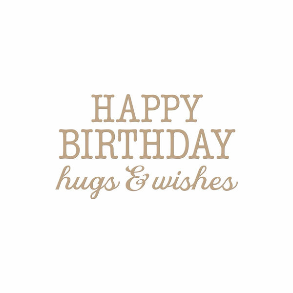 Spellbinders - Birthday Hugs & Wishes Hot Foil Plate