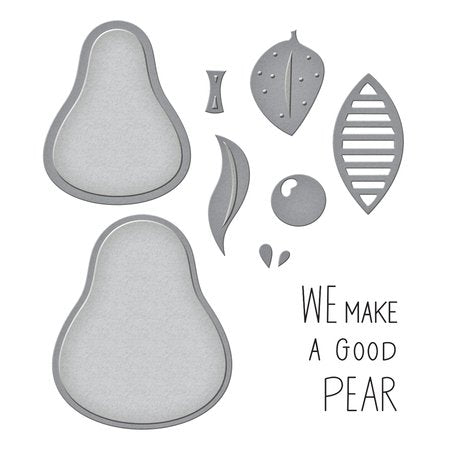 Spellbinders - The Pearfect Avocado Stamp And Die Set