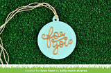 Lawn Fawn - stitched circle tags