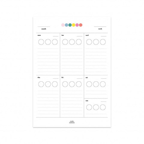 Studio Stationery sticker planner