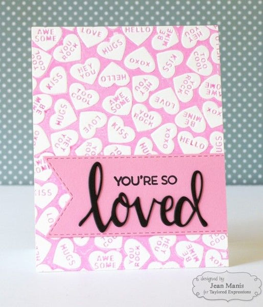 Taylored Expressions - Conversation Hearts Embossing Folder