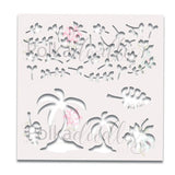 Polkadoodles - Great Outdoors 6x6 Inch Stencil Tropical Foilage