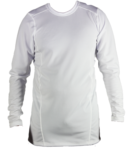 Shirts - White Long Sleeve Shirt