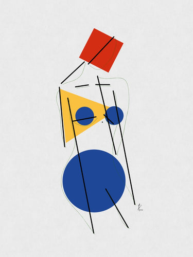 Bauhaus Woman. Pure form.