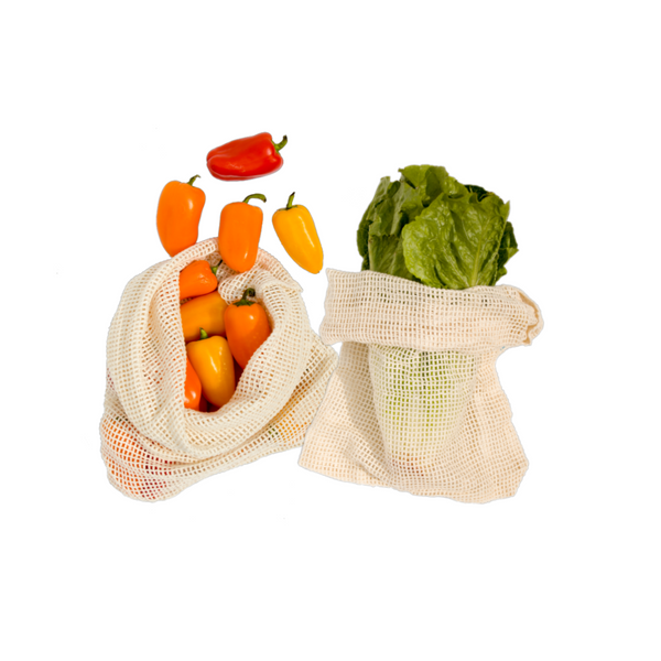 Reusable Produce Bags, Organic Cotton - Lovers of The Sea