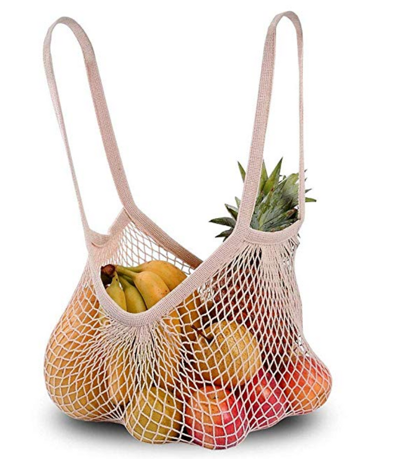 Reusable Shopping Net Bag, Organic Cotton - Lovers of The Sea