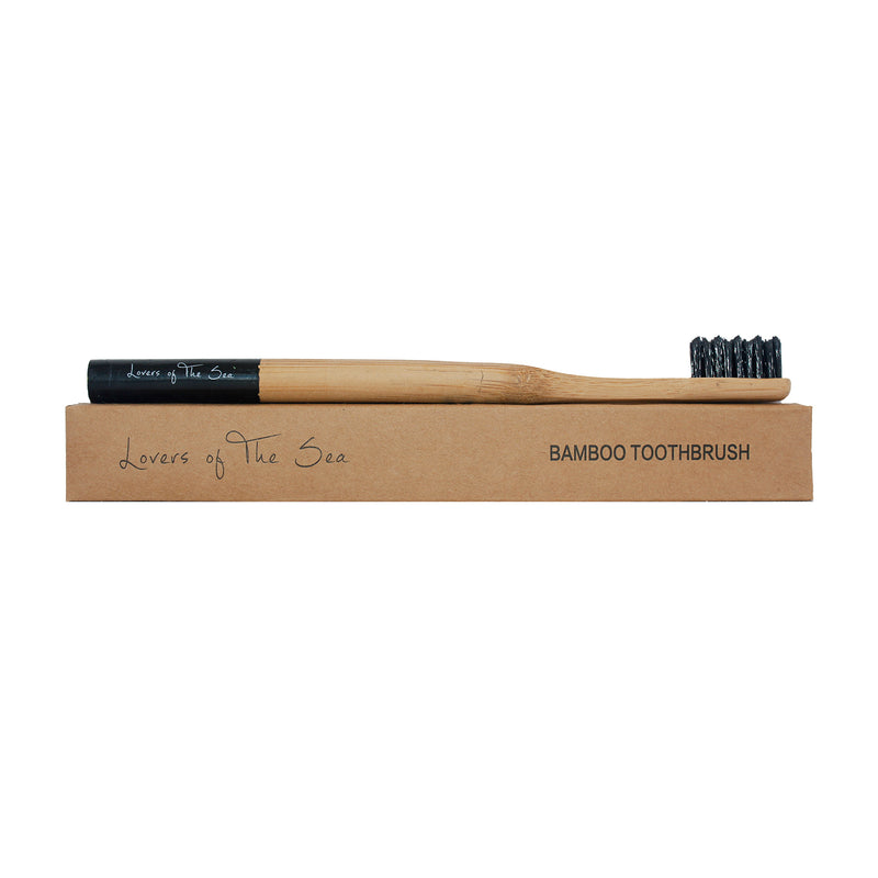 Bamboo Toothbrush - Black - Lovers of The Sea