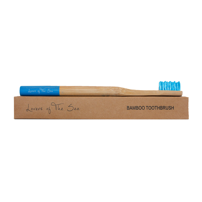 Bamboo Toothbrush - Sea blue - Lovers of The Sea