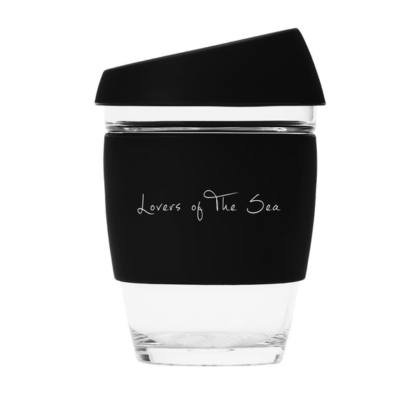 Reusable Coffee Cups - Black (12oz) - Lovers of The Sea